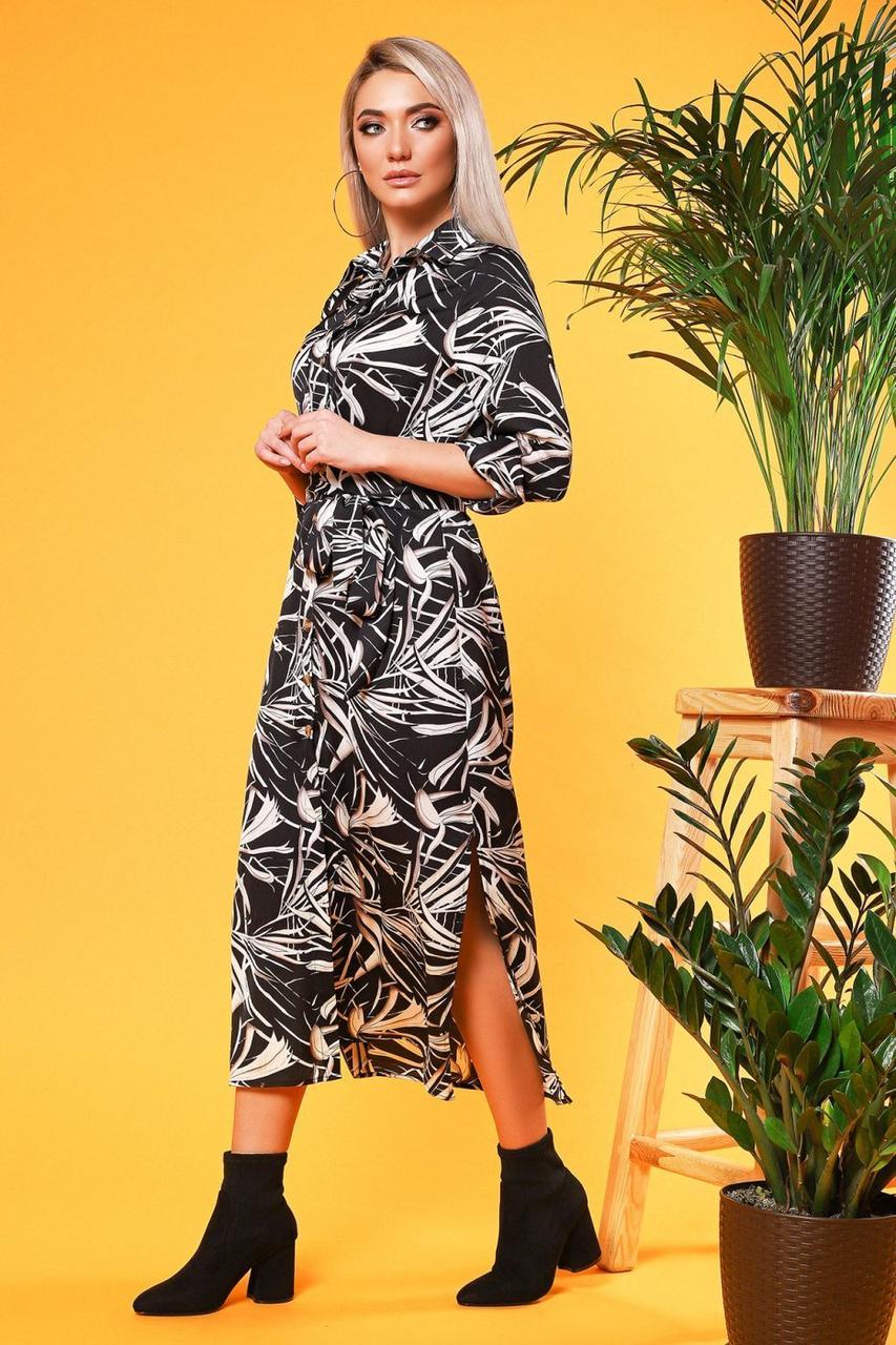 38051e1ac7d Платье-рубашка с длинными разрезами Размеры L (48)