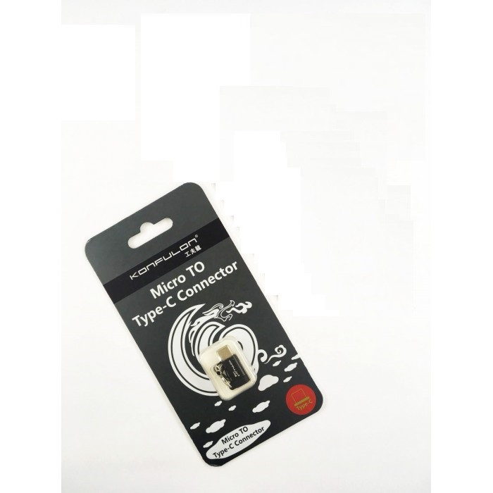 Адаптер  Konfulon  Micro USB - Lightning Z08 (Чорний)