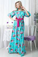 Длинное женское платье  Х4067, фото 1