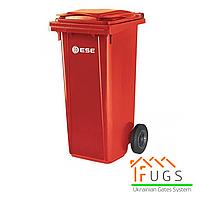Пластиковый контейнер для утилизации мусора, 120 л красный