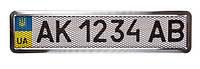 Рамка для номера с нержавейки + сетка