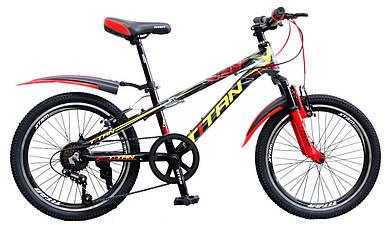 """Детский алюминиевый горный велосипед 20"""" TITAN TIGER"""