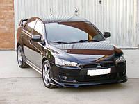 "Накладка на передний бампер Mitsubishi Lancer Х ""Zodiak"""