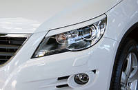 Вії на фари Volkswagen Tiguan, Накладки на фари Тігуан, фото 1