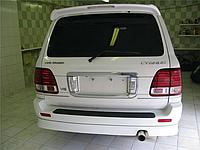 Накладка на задний бампер Тойота Ленд Крузер 100 (03-06)