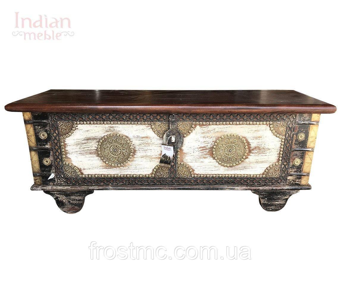 Індійська дерев'яна скриня 'ART' 116