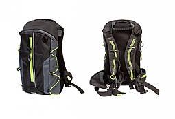 Рюкзак QIJIAN BAGS B-300 44х26х9cm (черно-серо-зеленый)