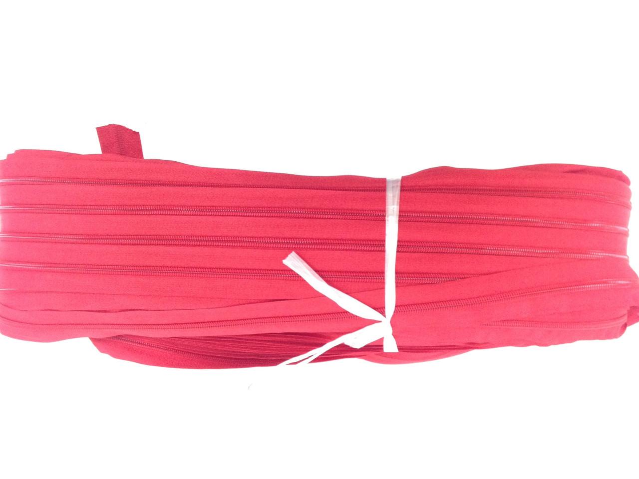 Блискавка рулонна вита тип 5 Червоний