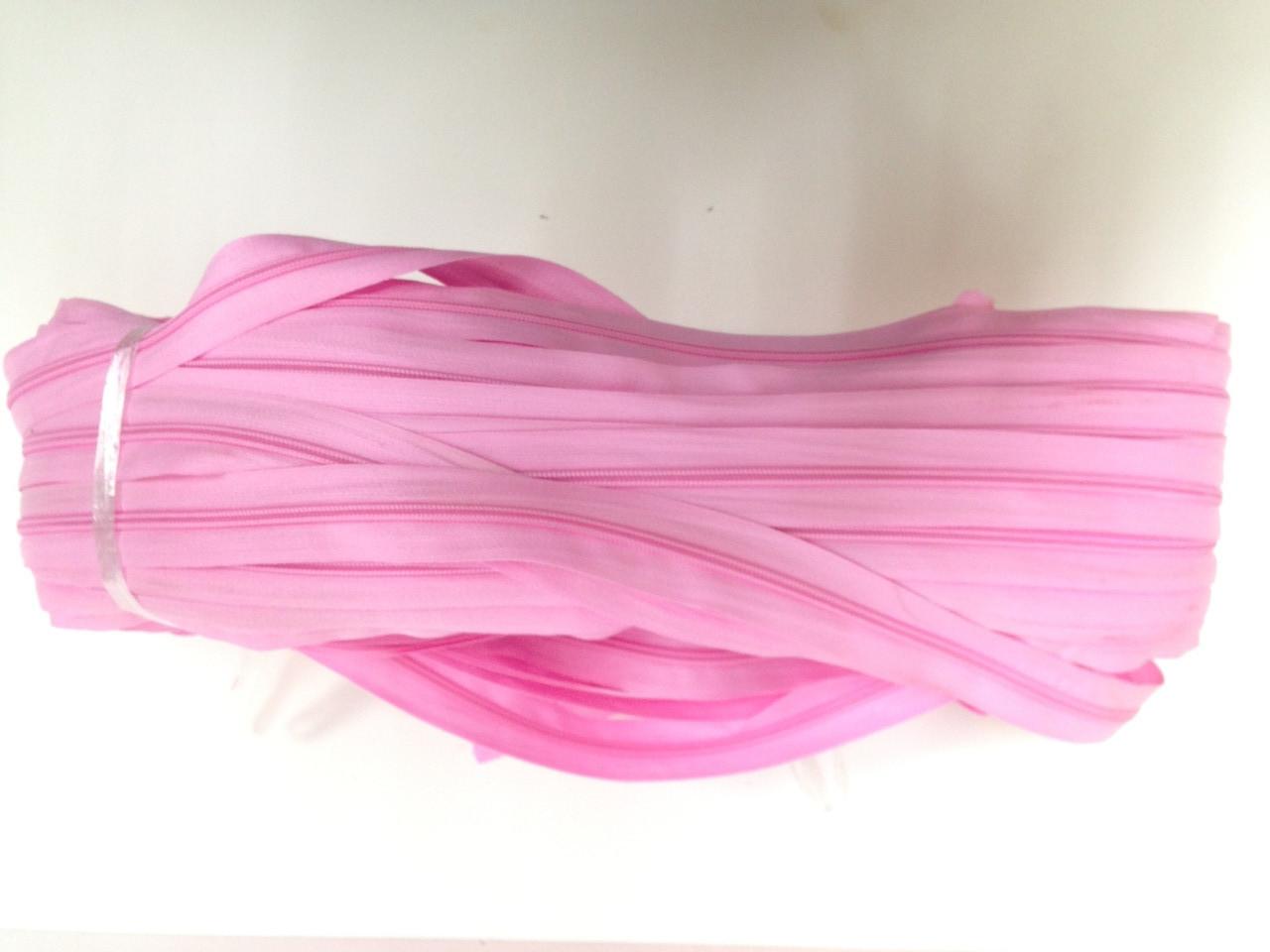 Блискавка рулонна вита тип 5 Рожевий