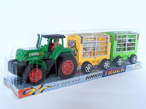 Трактор с прицепом, животные, фото 2