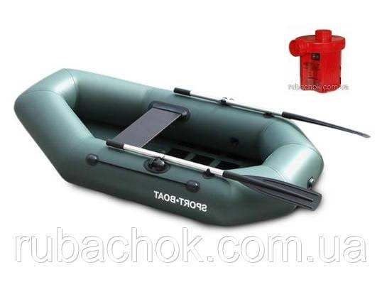 Лодка надувная Sport-Boat С 210LS + Насос электрический Турбинка 12V АС 401