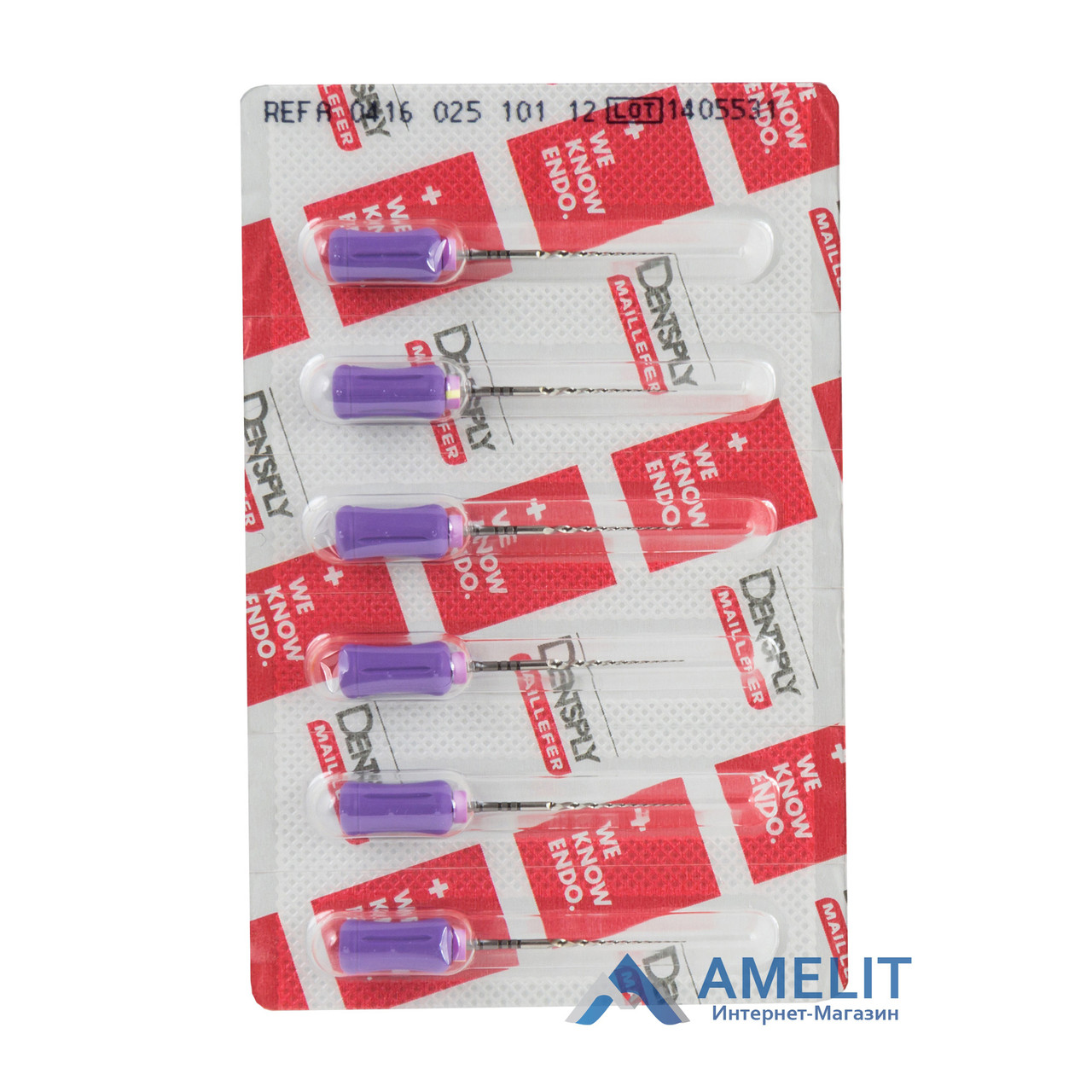 ПроТейпер ручной F1 (ProTaper for hand use, Dentsply Maillefer), 6 шт./уп.
