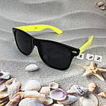 Очки с черными линзами и желтыми дужками, фото 4