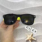 Очки с черными линзами и желтыми дужками, фото 3