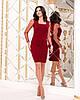 Женское силуэтноеплатье рукав из флок-сетки в горошек 42-44, 44-46, фото 3