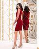 Женское силуэтноеплатье рукав из флок-сетки в горошек 42-44, 44-46, фото 4