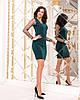 Женское силуэтноеплатье рукав из флок-сетки в горошек 42-44, 44-46, фото 5