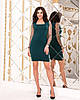 Женское силуэтноеплатье рукав из флок-сетки в горошек 42-44, 44-46, фото 6