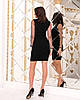 Женское силуэтноеплатье рукав из флок-сетки в горошек 42-44, 44-46, фото 8