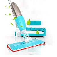 Швабра с распылителем для уборки пола с дополнительной насадкой для мытья окон Healthy Spray Mop