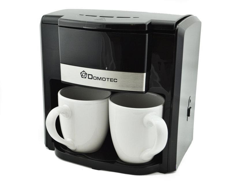 Кофеварка электрическая Domotec капельная на две чашки MS-0708