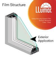 Защитная прозрачная пленка LLumar SHE CL ER PS 7 Safety Clear Exterior 1.52 m