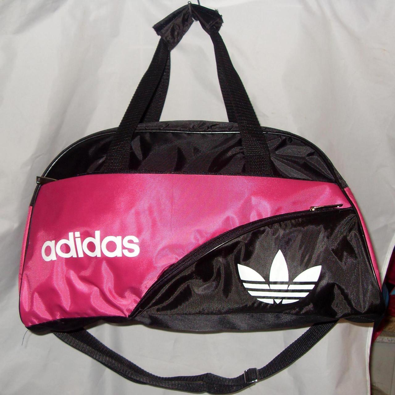 db9ff83e Женская спортивная сумка Adidas 013075 черная с розовым копия ...