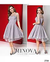 Кокетливое нежное платье с сеткой в горошек размеры S-L, фото 5