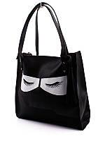 Повседневная вместительная женская сумка с оригинальным декором