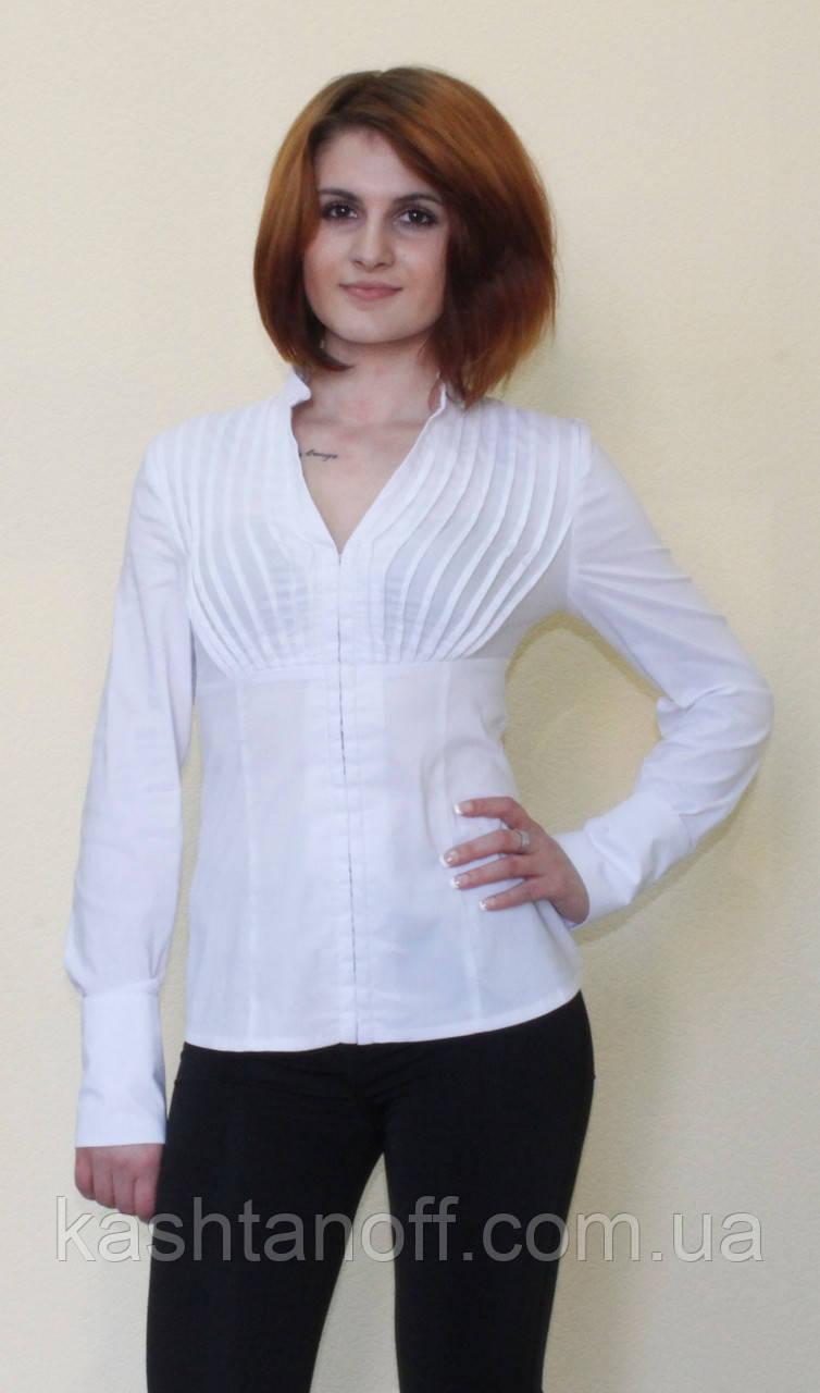 0116e18668e Стрейчевая женская белая блуза - Интернет-магазин КАШТАН Мужская