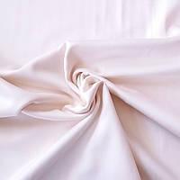 Сатин Люкс однотонный кремовый с розовинкой, ширина 240 см