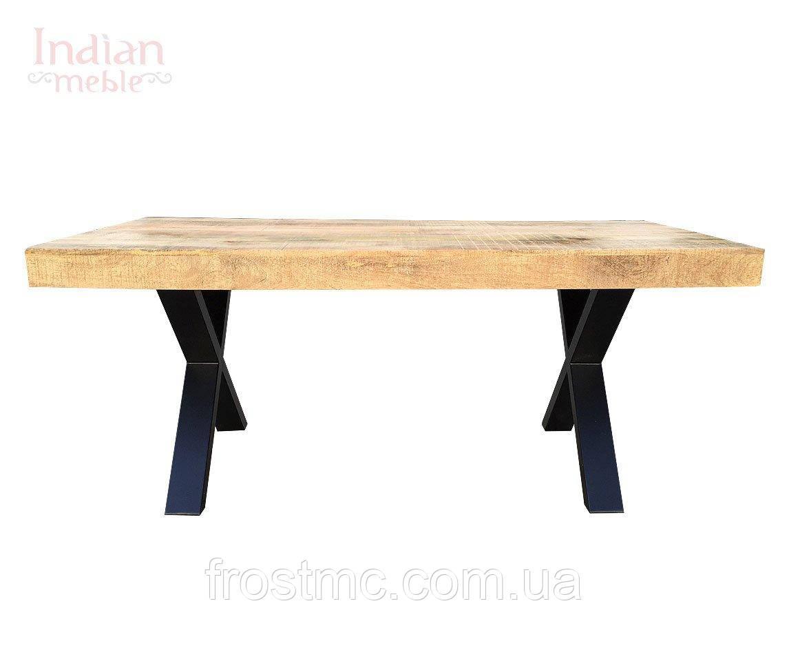 Індійський індустріальний стіл дерев'яний