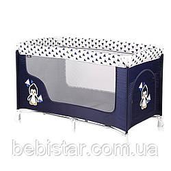 Манеж сине-белый Lorelli SAN REMO 1 blue white penguin