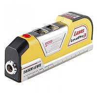 Лазерный уровень laser level pro 3 + рулетка 2,5 метра, фото 1