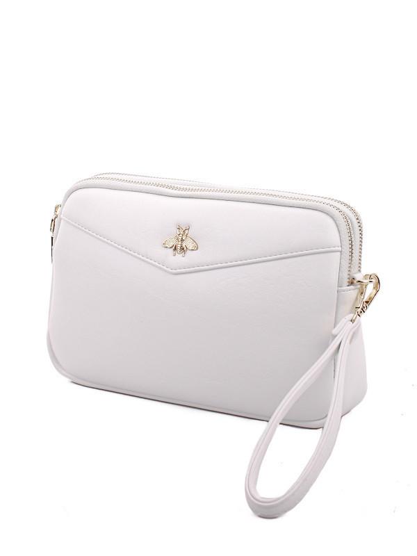 53f5e8994822 Маленькая женская сумка с длинным ремешком и дополнительным ремешком на  запястье