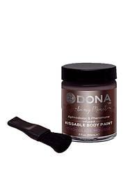 Вкусная краска для тела, Dona, Kissable Body Paint, CHOCOLATE MOUSSE
