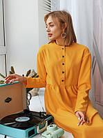 Женское модное платье с кнопками