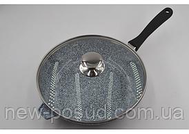 Сковорода - WOK c литого алюминия 28 см Benson BN-521