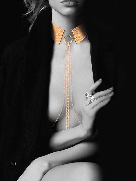 Украшение на грудь из метала, Desir Metallique Collar Gold, Bijoux