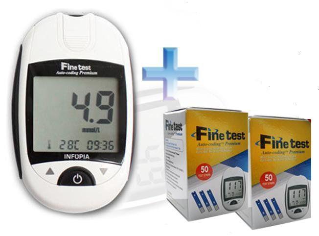 Акционный набор Глюкометр Finetest + 100 тест полосок