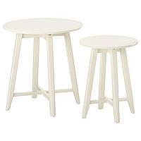 Комплект столиков IKEA KRAGSTA 2 стола, белый (202.998.29), фото 1