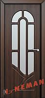 Дверь межкомнатная Модель АРКАДИЯ (остеклённая), шоколадный орех, фото 1