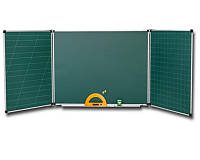 """Учебная доска """"Стандарт"""" 300х120 см. 5 поверхностей (Мел)"""