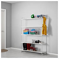 Модуль IKEA MULIG Стеллаж 120x34h162 белый (602.241.63)