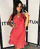 Женское летнее платье в горошек, фото 3