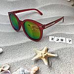 Солнцезащитные очки, цвет линз розовый в краной оправе, фото 3