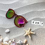 Солнцезащитные очки, цвет линз розовый в краной оправе, фото 4