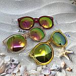 Солнцезащитные очки, цвет линз розовый в краной оправе, фото 5