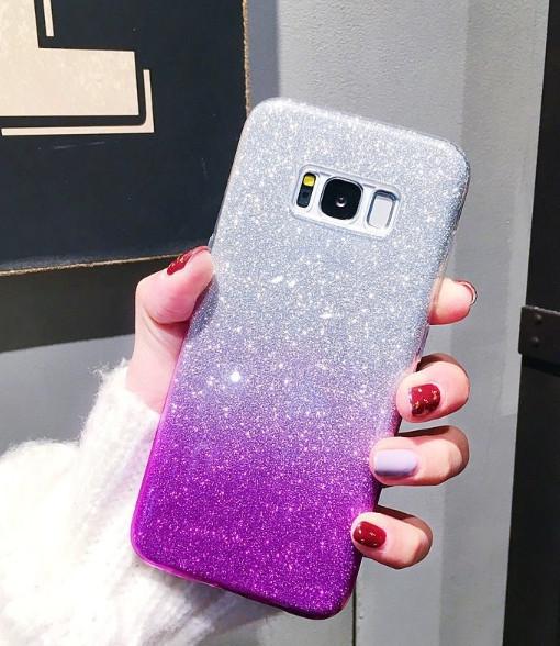 Силиконовый чехол градиент блеск для Samsung Galaxy S8 Plus