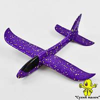 Дитячий планер метальний, літак з пінопласту,фіолетовий 48см  - CM01611